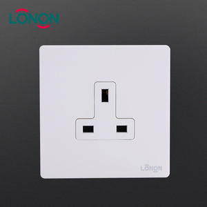 Durable Stainless 250V PC UK 1 Gang 3 Pin 13A power electrical Plug wall socket
