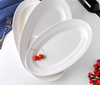 Haonai bulk porcelain fish platter white ceramic oval fish plate for restaurant
