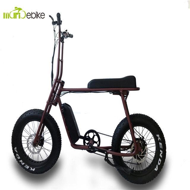 Mario-Retro 20 48v 500w BaFang Rear hub motor cocoo city fat tire ebike, Color can be ordered