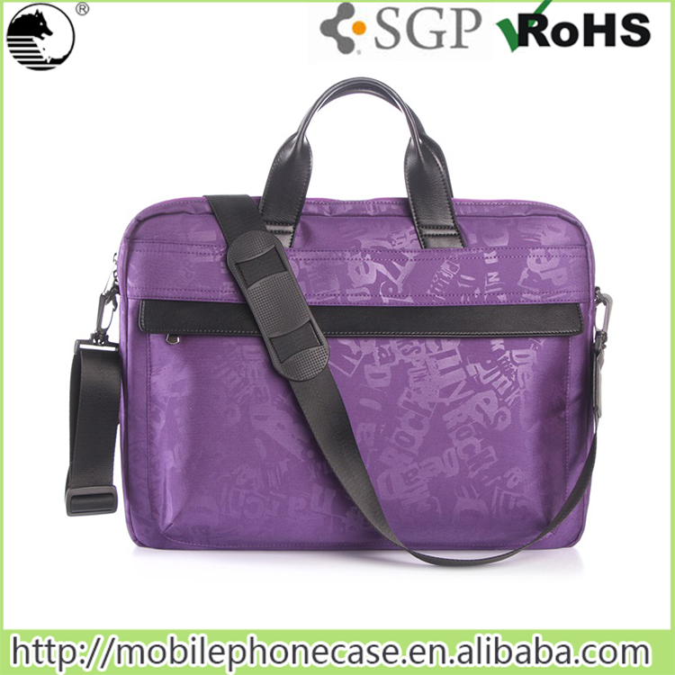 Smooth and Soft Nylon Fabric Laptop Protective Case Shoulder Bag