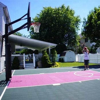 Interlocking drainage tiles multi-purpose sports flooring used basketball courts for sale