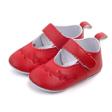 Bel fiore solido pu baby shoes for girls