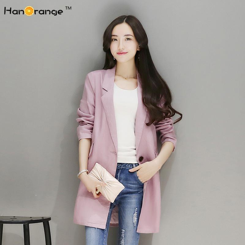 Compra azul chaqueta de lino online al por mayor de China