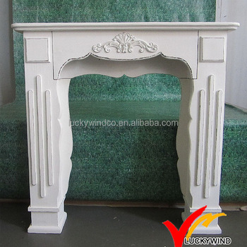 Shabby Chic French White Fireplace