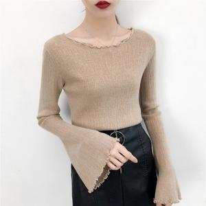 Wholesale In Stock ladies pullover knit sweater lady new style sweater autumn women knitwear