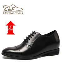 CF Classical Product Genuine Leather Handmade Tall Shoes for Mens
