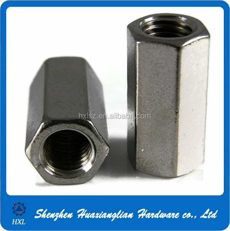 High Precsion OEM Stainless Steel Hex M8 Coupling Nut