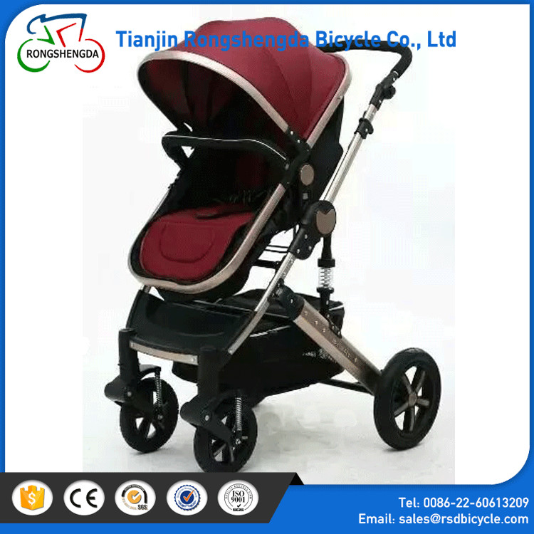 Hot sale high end baby stroller/best 3 in 1baby pram/logo customized suspension baby carrier on alibaba