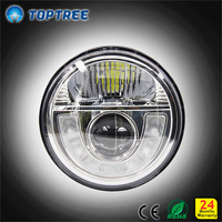 7 inch round led headlight 12v 24v led projector headlamps for automobiles