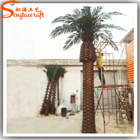 songtao indoor and outdoor life size date palm tree palnts artificial trees wholesale