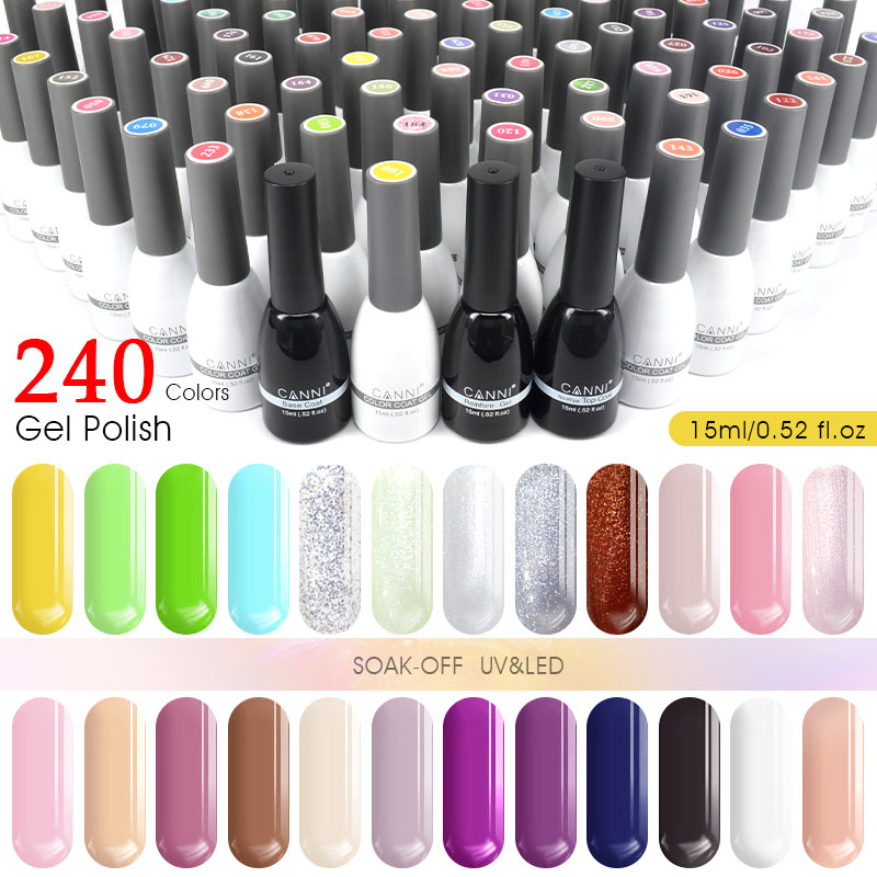#62507W CANNI Nail Polish 15ml Private Label Wholesale New Color Gel Lacquer Soak Off UV/LED Gel Nail Polish