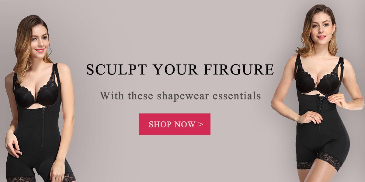 cac7148167683 Flawless Undergarment Straps Nude Body Slimming Shapewear Bodysuit ...