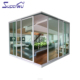 Superwu Latest meeting room design stacker sliding door living room aluminium corner sliding door