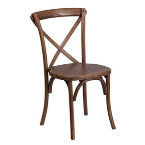good quality rental wood cross back wedding chair for hot sale