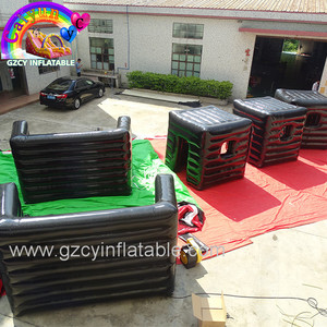 China 2018 cheap paintball air bunkers inflatable x bunker x x for sale