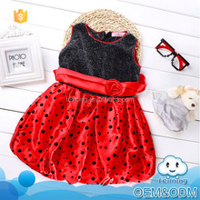 Baby custome tutu style soft satin dot children clothes night party fashion small girls baby dress modern