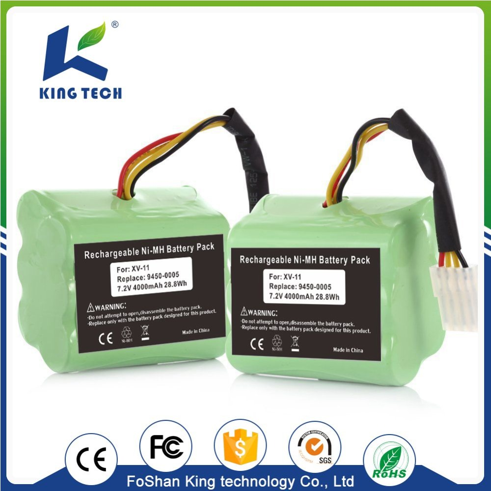 Kingtech 7.2v 4000mAh 28.8Wh battery nimh for rechargeable vacuum cleaner