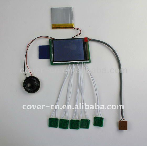 4.3 inch TFT-LCD Video Card Module with function buttons for Video in Print greeting card