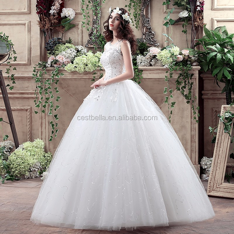 2018 Cheap Modern Style And Bride Ball Gown White Wedding Dresses ...