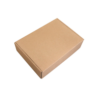 Professional factory supply 3 ply corrugated board plain white or brown shipping postage supplies paper boxes