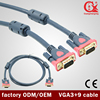 50 meters 15pin gold plated PVC environmental material 3+9 vga cable specification for computer