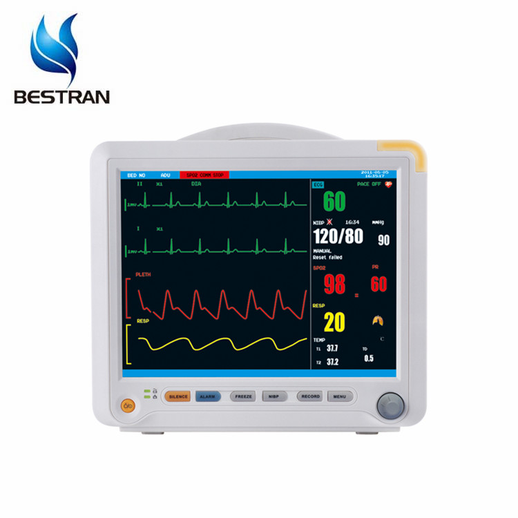 BT-PM8B 6 Standard parameters 12inch medical multi para patient monitor