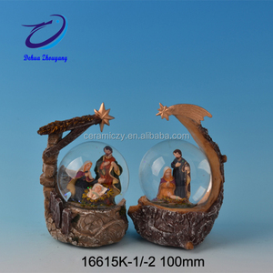 Nativity Set Religious Resin The Water Globe