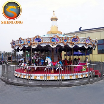 2018 Amusement outdoor equipment amusement park carousel for kids