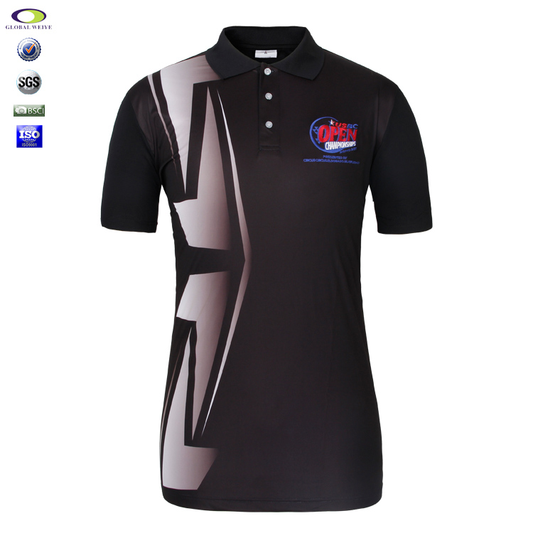 Hot Sale Mens Sublimated Pique Golf Polo Shirt Polyester Customized