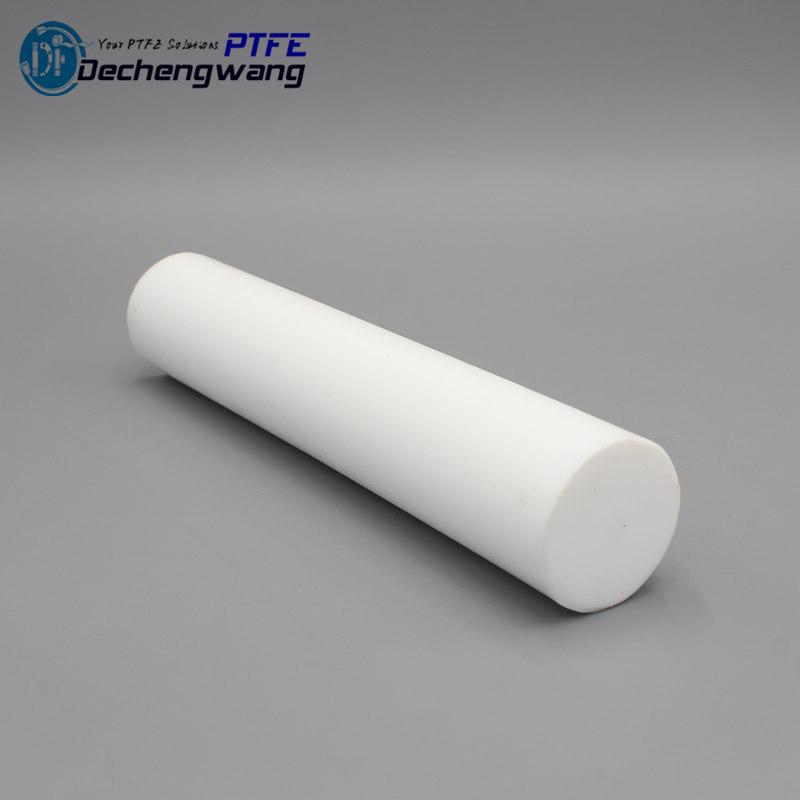 New Dia 10mm L100mm PTFE Rod Teflon Round Bar virgin sealing gasket insulation