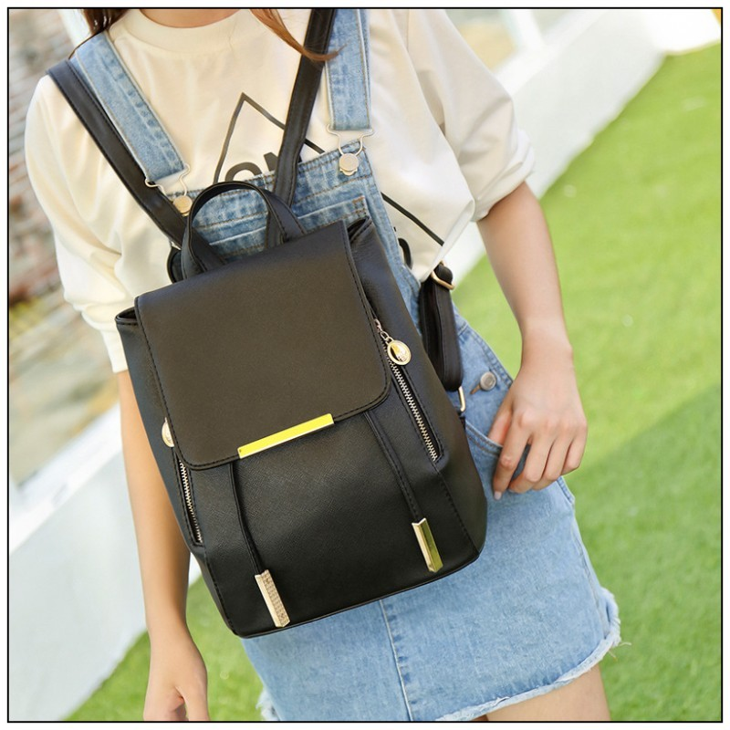 Wholesale- New 2017 Brand Womens Fashion Backpacks Classic Candy Colors  Women Backpack Bag Casual College Wind School Girl Backpack 070b5c51c5fc7