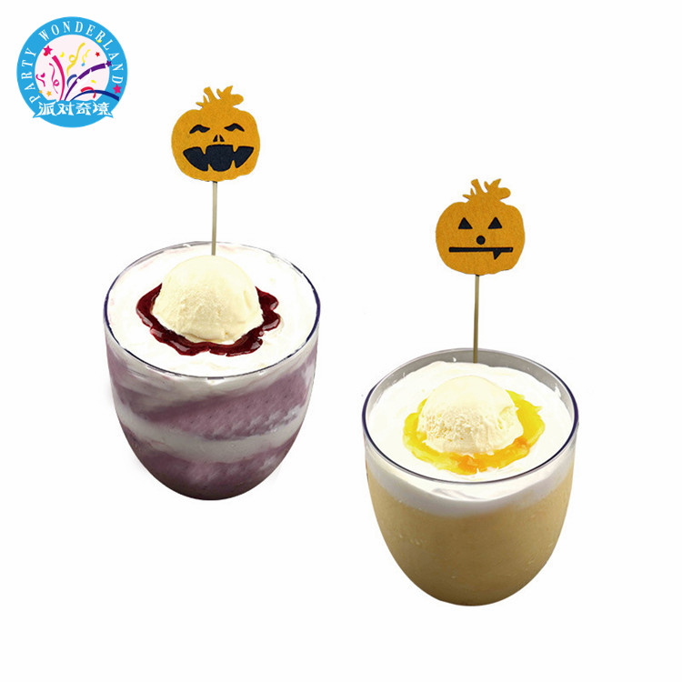 Funny Halloween ice cream <strong>cake</strong> venue party photography props supplies party decoration pumpkin card birthday <strong>cake</strong> <strong>accessory</strong>