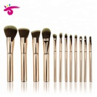 12 Pcs Maquiagem Gold Mental Brush Custom Label Makeup Brush Kit