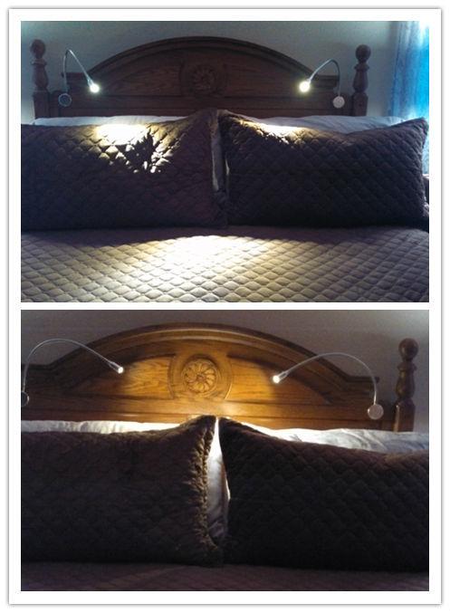 Wholesale 3w 220v Flexible arm headboard led wall lamp reading ...
