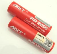 China supplier AWT 18650 3000mAh 40A high rechargebel battery awt 18650 40A ryobi 18v lithium battery
