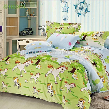 Green Horse Pattern Kids Twin Size Bedding Sheet Comforter Set Buy