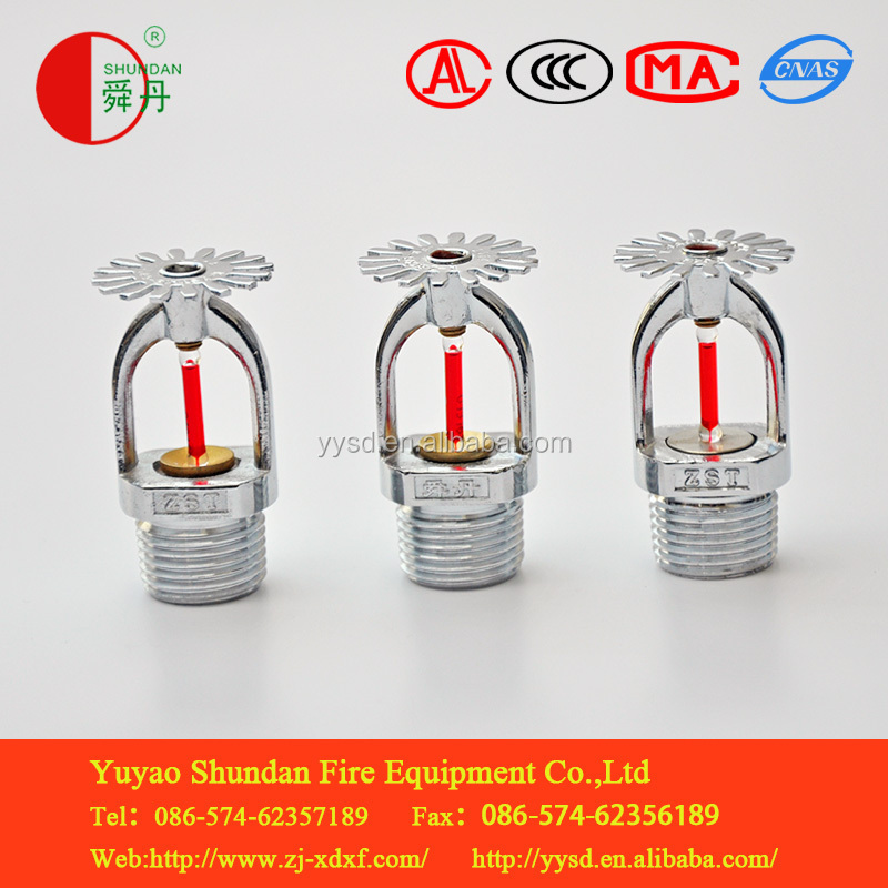 ZSTX pendent red glass bulb fire sprinkler For Bulding Fire fighting products