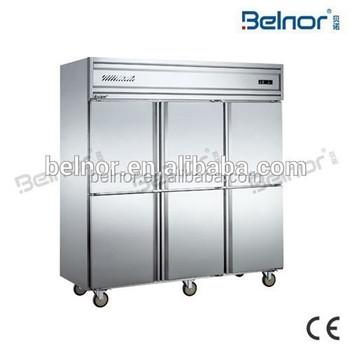 Chinese Restaurant Kitchen Equipment kd1.6l6w / 6 doors commercial kitchen freezer/ kitchen equipment