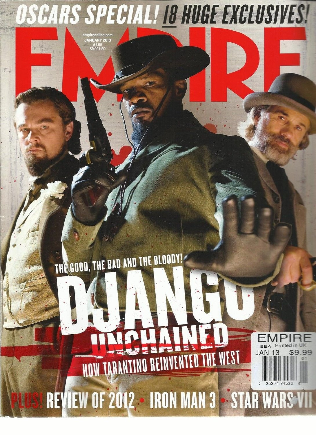 EMPIRE, JANUARY, 2013 ( OSCARS SPECIAL ! * 18 HUGE EXCLUSIVES !) REVIEW OF 2012