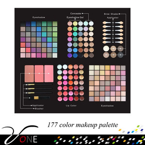 Best quality cheap customized 177 color makeup cosmetic sets for women