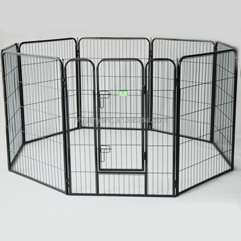 eight panels heavy duty square tube wire mesh pet fence