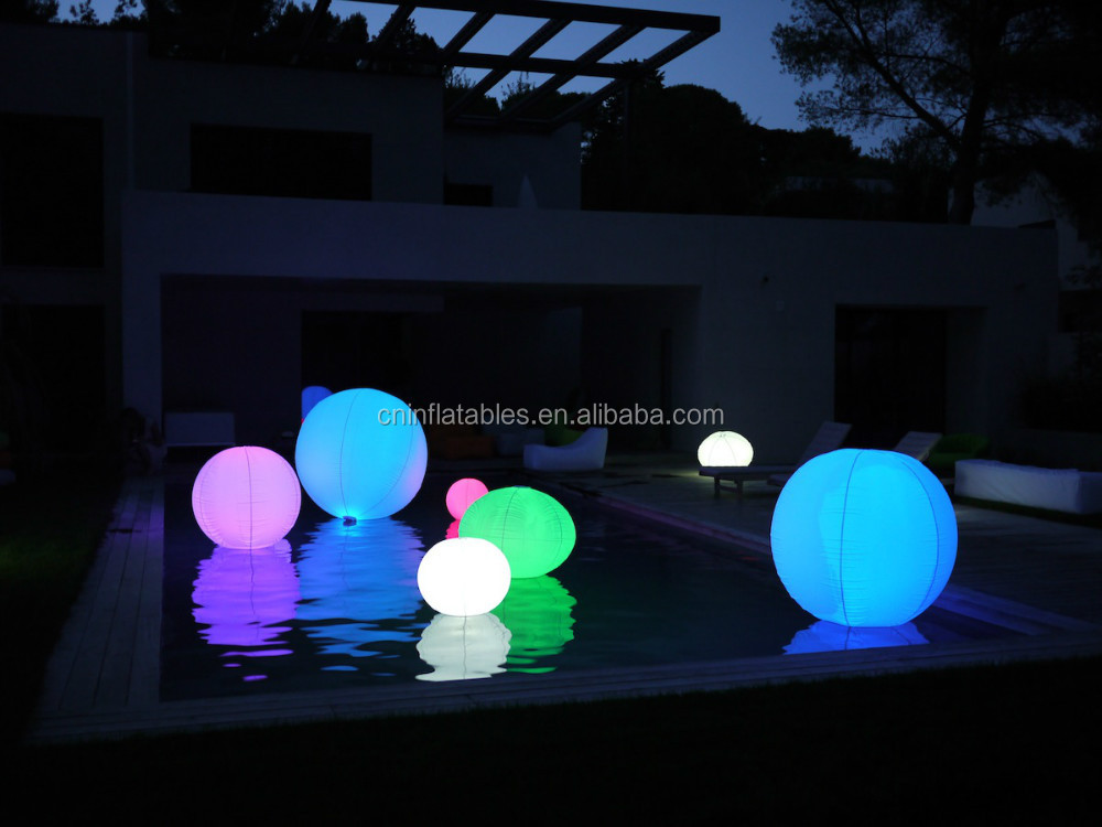Floating Lighted On Water Inflatable Led Light Decoration Ball ...