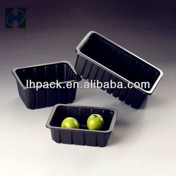 Black PP Disposable Fresh Meat Trays