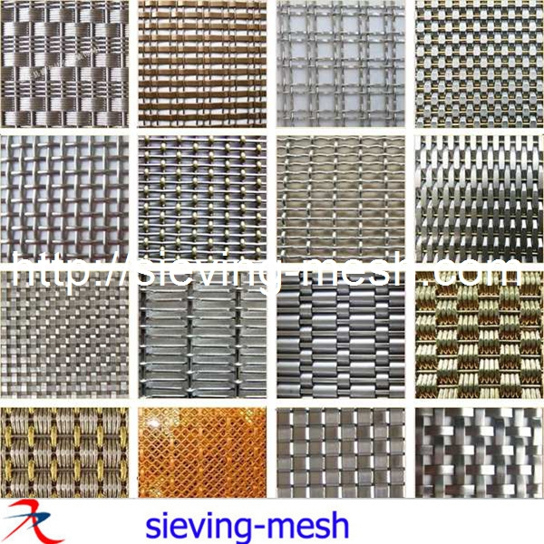 Flat Woven Decorative Wire Mesh For