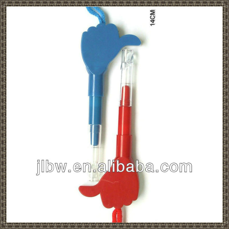 promotion advertisment big hand finger shape plastic ball pen