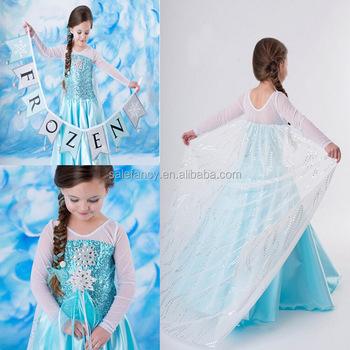 Cheap frozen princess elsa costume wholesale QKC-2087