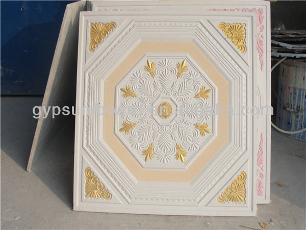 gypsum board false ceiling / the middle east golden supplier/ famous brand/ 603*603*8mm