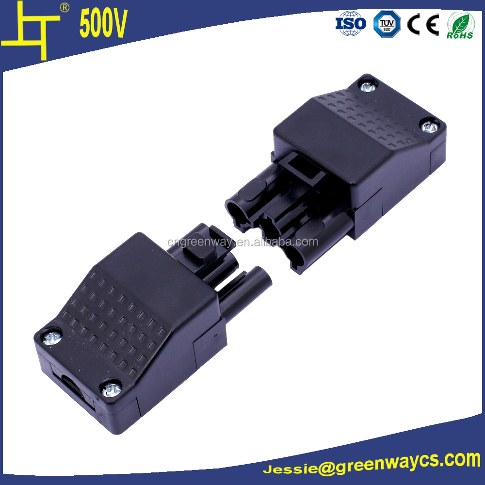 3 pole 500V pluggale male female wire cable connector