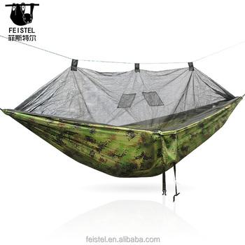 Portable Parachute Mosquito Netting Bug Net Military Camouflage