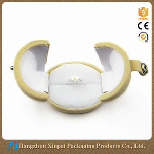 Unique jewelry egg shaped ring box